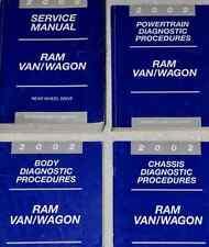 2002 DODGE RAM VAN WAGON Service Repair Shop Workshop Manual SET FACTORY OEM
