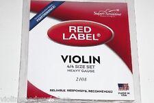 Super Sensitive Red Label Orchestra / Heavy Gauge4/4 Violin String VWWS USA