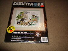"""DIMENSIONS COUNTED CROSS STITCH KIT """"THE EARTH IS OUR HOME"""" 14X12 SEALED USA"""