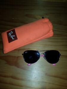 Girls Pink And Purple Ray Ban Sunglasses