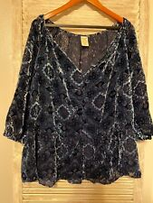 Size 20 Sheer & Velour Top