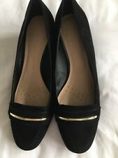 footglove Black Wedge shoes size 4 Wider Fit