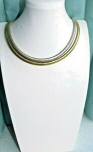 JEWELLERY NICE GOLD TONE & SILVER TONE METAL MESH NECKLACE 316