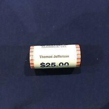2007 Thomas Jefferson Presidential Dollars Sealed NF String BU Roll of 25