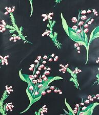 Melanie Floral Waverly Fabric 10 Yard Vtg Pink Lily of the Valley Southern Charm