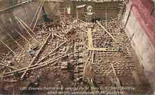 Postcard Seattle WA LC Smith Bldg Concrete Friction Piles - Construction Phase