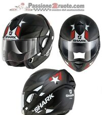 Casque modular helm Shark Evoline 3 Strelka black red moto flip up helmet