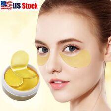 USA 60Pcs Gold Hydrogel Eye Patch Firming Eye Mask Collagen Gel Under Eye Pads
