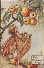 Flower Fairies: The Crab Apple Fairy Vintage Print c 1930 by Cicely Mary Barker
