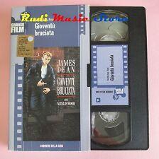 film VHS cartonata GIOVENTU' BRUCIATA James Dean CORRIERE 1955 (F36*) no dvd