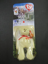 "Ty Beanie Baby ""Maple the Bear"" still in box date of birth 1996 error Oak Brook"