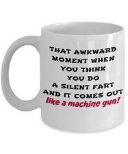 Funny Farting Mug Fart Like A Machine Gun, New Funny 11oz White Coffee Tea Cup