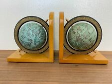 """World Globe Bookends Vintage Zodiac """"Antique Look"""" - Italy"""