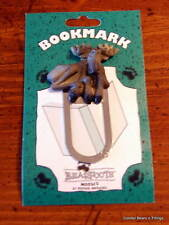 New Retired Rare Big Sky Carvers Bearfoots Bears Moose Bookmark With Hoof Print