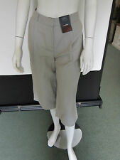 BNWT STONE MIX  LINEN RICH CULOTTE STYLE TROUSERS BY MARKS & SPENCER SIZE 12
