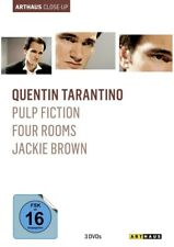 3 x Quentin Tarantino: PULP FICTION + FOUR ROOMS + JACKIE BROWN (3 DVDs) NEU+OVP