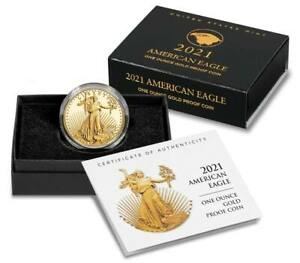 American Eagle 2021 One Ounce Gold Proof Coin type 2