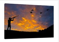 Hunting 30x20 Inch Canvas Wall Art - Gun Framed Picture Print