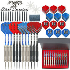 12PCS Steel Tip Darts Tungsten Barrel Aluminium Shafts Professional Darts Sets