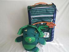 Kids 2-Piece Soft Side Small Luggage Travel Case+ Neck Pillow Set Dinosaur