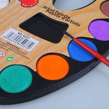 FD4D 12 Colores Sólido Pigmento Acuarela Arte Pintura Artista Suministros Set para