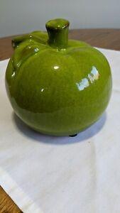 Large Green Ceramic Apple Decoration