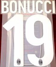 2017-18 AC Milan Home/Third Shirt BONUCCI#19 Official STILSCREEN Name Number Set