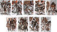 FONTANAROSA Lucien : Révolution - 9 LITHOGRAPHIES originales #1967 #MOURLOT