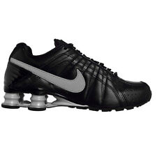 Nike Shox Junior 454340-005 Black/Metallic Platinum Leather Men's Shoes Size 8