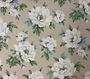 LAURA ASHLEY Wisley Linen Fabric Discontinued 1 Metre X W 137cm NEW