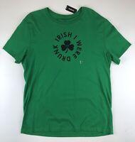 EXPRESS Mens Green Tee Shirt St Irish Saint Patricks Pattys Day Drunk T XL