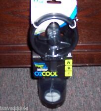 NEW BLACK O2 COOL DELUXE WATER MISTING FAN  B/O FILL W/ WATER & CAN ALSO ADD ICE