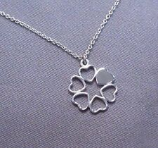 Tiffany & Co. Silver Paloma Picasso Loving Heart Clover Circle Necklace