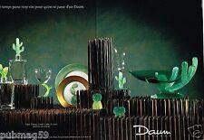 Publicité advertising 1990 (2 pages) Cristal Daum ligne Cactus
