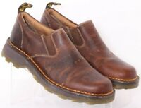 Dr. Doc Martens Lachlan Brown leather Slip-On Loafer Shoes UK 7 Men's US 8