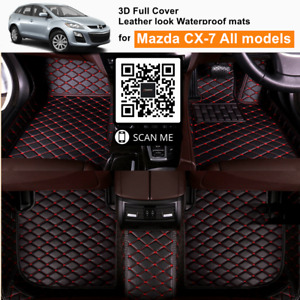 3D Moulded Fully Waterproof Car Floor Mats Cover for Mazda CX-7 CX7 all models