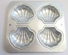 Wilton Sea Shells 4 Molds Dessert Cake Muffin Gelatin Pan Baking Tin Seafood