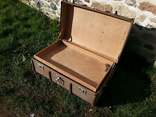 VINTAGE STEAMER TRUNK Suitcase OLD TRAVEL TRUNK Cabin Trunk ~ COFFEE TABLE