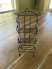 Dollhouse Miniature Baker's Rack Black Kitchen Furniture Collectibles Decorative