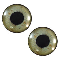 Pair of 30mm Eagle Bird Glass Eyes for Jewelry Making, Dolls, Taxidermy, Art