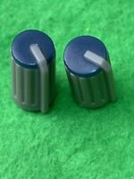 Pkg Of 2 Blue Top Aux/Pan Knob for Nady MXE-812 Mixing Board Sound Mixer  ND-002