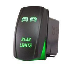 Universal 5pin 12v Rocker Switch Green Led Rear Light For Utv Atv Cars Truck Rvs