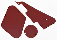 Red 3 Ply LP Pickguard & Back Plate Switch Cavity Covers for Gibson Les Paul