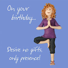 Yoga Meditation Blank Funny Mum Daughter Sister Aunt Friend Birthday Card