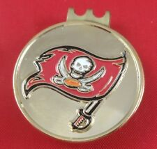 Golf HATCLIP Magnetic + Ball Mark Ballmark Ballmarker Tampa Bay Buccaneers NEW