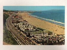 Aerial View of Santa Monica, California Beach Clubs Homes Chrome Postcard Unused