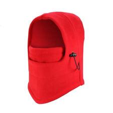 6pk Red Outdoor Thermal Fleece 6 in 1 Balaclava Hood Face Snowboarding Ski Mask