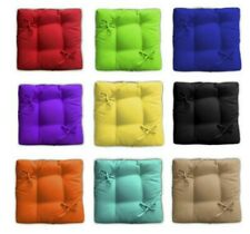 """Square Seat Cushion """"Сolors"""" Chair Pads with Ties Wedding white cushion Indoor"""