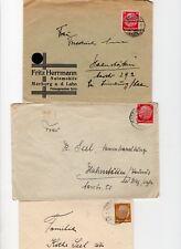 Deutsches Reich,3 Umschläge, MiNr. 482,487, gelaufen 1934-37 nach Hahnstätten