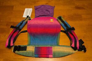Tula baby carrier fancy Heart String Handwoven Holi Fuschia weft, standard size